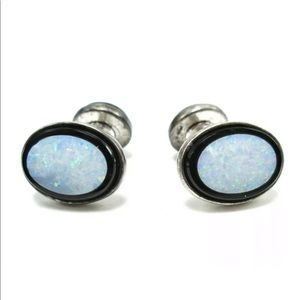 Other - Cuff links 925 SS Opal Inlay GORGEOUS